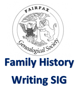 Family History Writing SIG