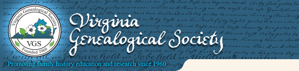Virginia Genealogical Society (VGS) Fall Conference